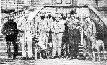 Partita di caccia a Guisachan, il cane a sinistra è Nous